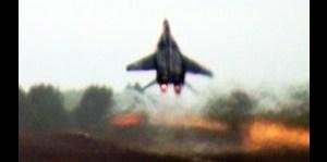 MiG 29 despega parecido a un cohete