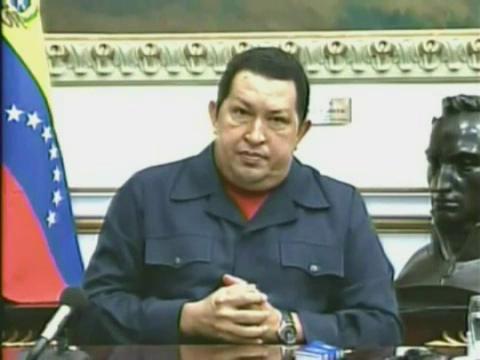 Hugo Ch�vez contempla por primera vez un desenlace fatal