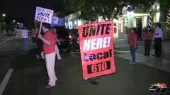 Protestan los empleados del hotel Marriott Courtyard en Miramar