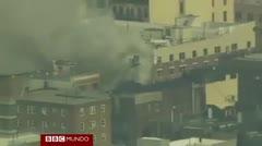 Dos edificios colapsan en Harlem