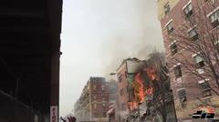 Decenas de familias desalojadas por explosión en Harlem