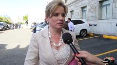 Carmen Yulín llega para escuchar el mensaje del gobernador