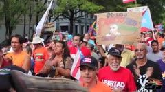 Culmina caminata que reclama el indulto de Oscar L�pez Rivera