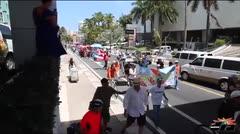 Marchan por la independencia