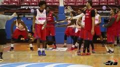 Práctica de la Selección de Baloncesto