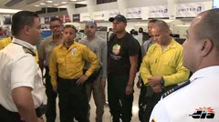 Bomberos puertorriqueños rumbo a California