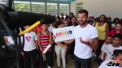 La música llevó a Ricky Martin a la filantropía