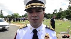 Funeral con todos los honores para bombero fallecido