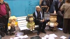 Quino celebra los 50 años de Mafalda en el barrio porteño de San Telmo