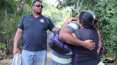 Tristes los familiares del fallecido empleado de la AEE