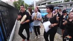Protestan empleados gerenciales del Fondo del Seguro del Estado