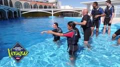 Atletas borocuas disfrutan del Acuario de Veracruz
