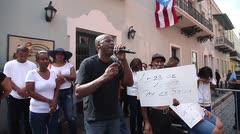 Protesta en la Fortaleza por cierre de CDT en Loíza